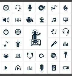dj icons universal set for web and ui vector image