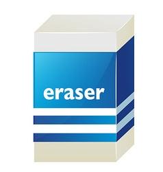 Eraser with blue label vector