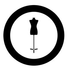 fashion stand female torso mannequin icon black vector image