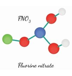 Fluorine nitrate FNO3 molecule vector image