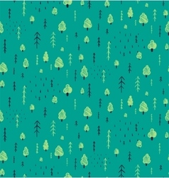 Forest Hand Drawn Seamless Pattern Background vector