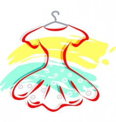 frock with hanger vector image