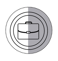 fugure suitcase icon image vector image