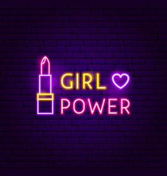 girl power neon sign vector image