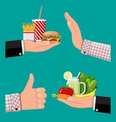 Greasy cholesterol vs vitamins food vector