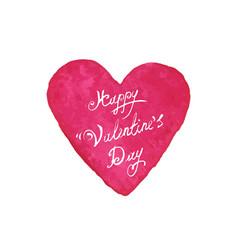 happy valentines day card design vector image