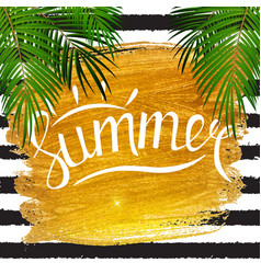 Hello summer natural background vector