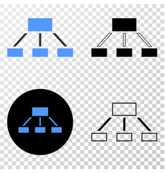 Hierarchy eps icon with contour version vector