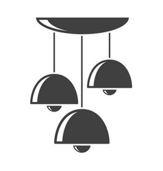 icon of the three-level chandelier on vector image