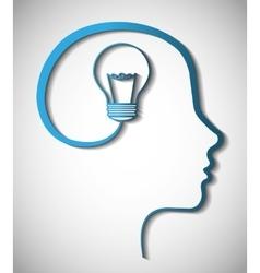 Idea design Light bulb icon Flat vector image