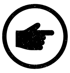 Index Finger Icon Rubber Stamp vector
