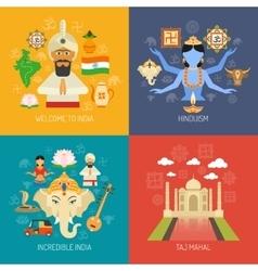 India Concept Set vector