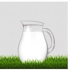 jug with grass border transparent background vector image
