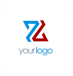 letter z color company logo vector image