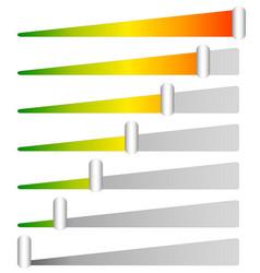 Loading progress bars indicators levels from low vector