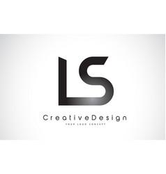 Ls l s letter logo design creative icon modern vector