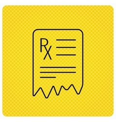 Medical prescription icon Health document sign vector image