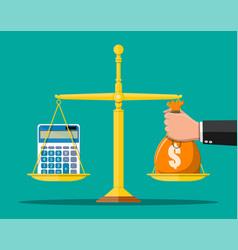 money balance concept vector image