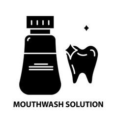 Mouthwash solution icon black sign vector