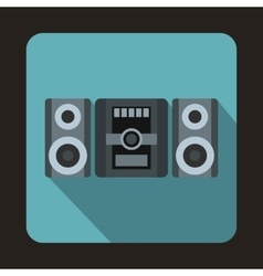 Music center icon flat style vector