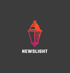 news light abstract sign symbol or logo vector image