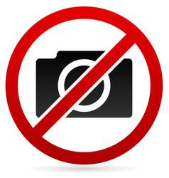 no photography symbol vector image