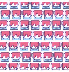Paint pot pattern background vector
