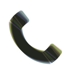 Phone sign colorful icon vector
