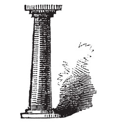 Pillar monument vintage engraving vector