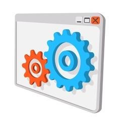 Programme settings cartoon icon vector