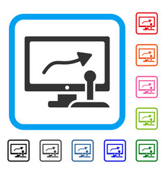 remote monitoring framed icon vector image