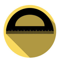 ruler sign flat black icon vector image