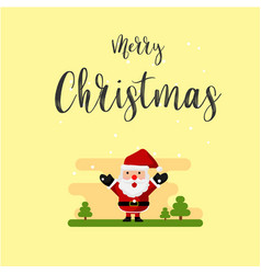 santa claus merry christmas happy background vector image