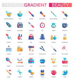 set of trendy flat gradient beauty vector image