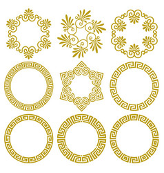 set round frames in greek style vector image