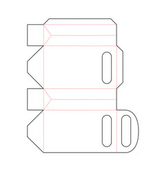 Simple retail packet scheme template on white vector