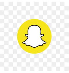 Snapchat social media icon design template vector