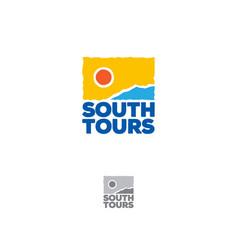 South tours logo tourism icon vector