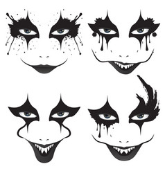 Spooky halloween makeup vector