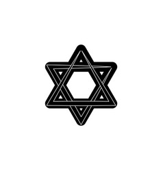 star of david black on white background vector image