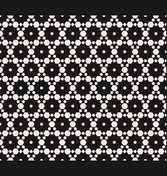 Subtle geometric seamless pattern with hexagons vector