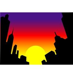 Sunset City Skyline Background vector image vector image