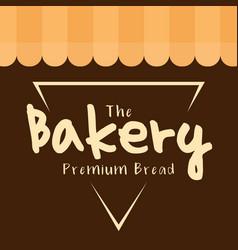 The bakery premium bread triangle vector