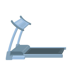 treadmill running simulator for training in the vector image