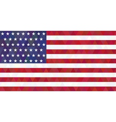 USA flag Triangle style vector image
