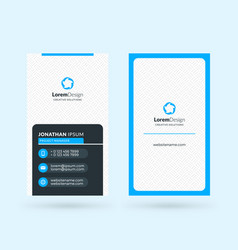vertical double-sided black and blue modern vector image