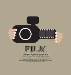 Vintage Camera With Film Strip vector
