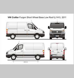 Volkswagen crafter delivery van l1h1 2011 vector