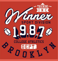 Winner brooklyn vector