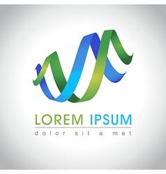 Abstract swirl logo vector image vector image